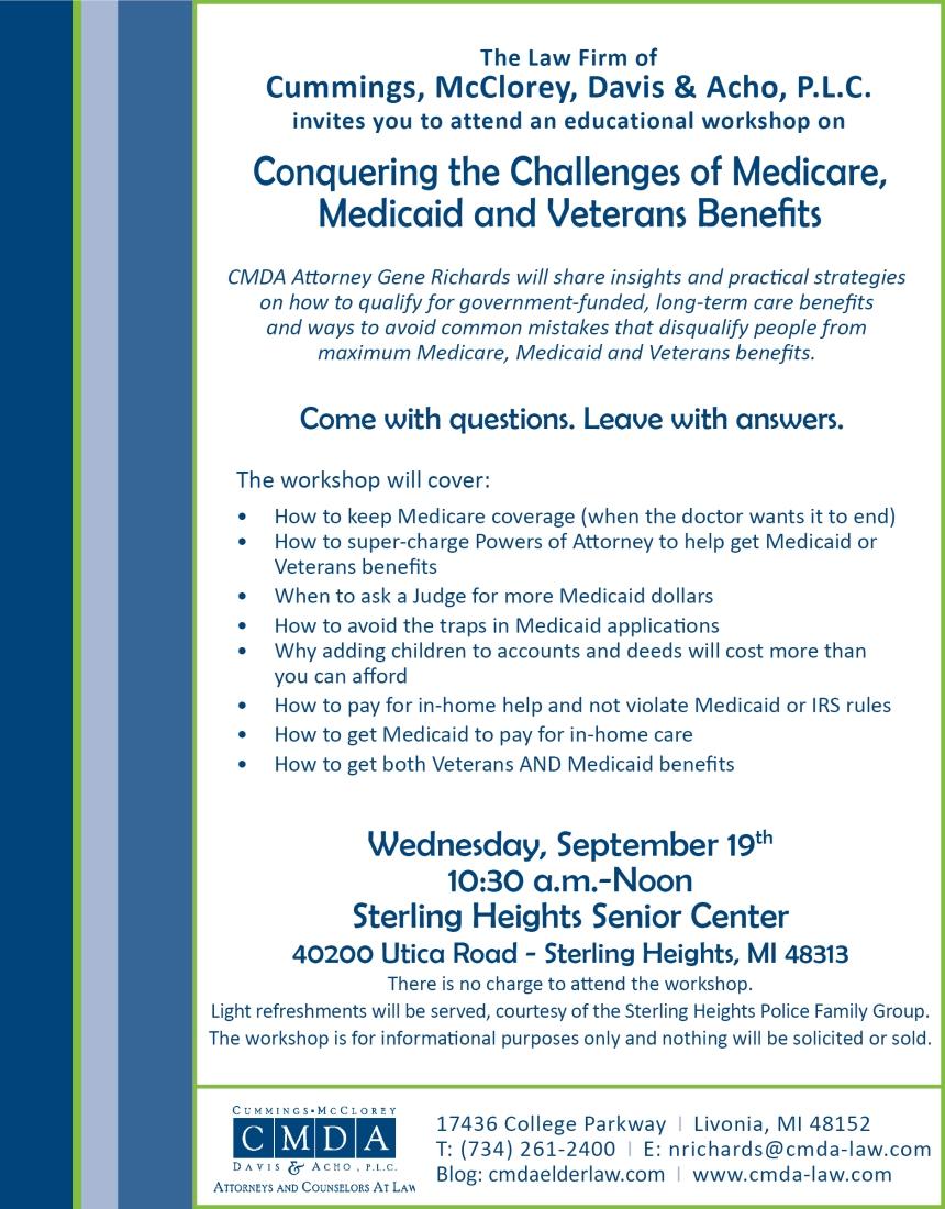 CMDA Conquering the Challenges Seminar Flyer 9.19